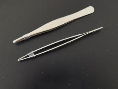 (GDHX)不锈钢 带齿 圆头镊子